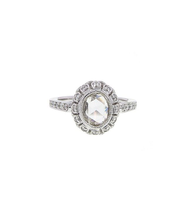 Sethi Couture Handmade Oval Rose Cut Ring