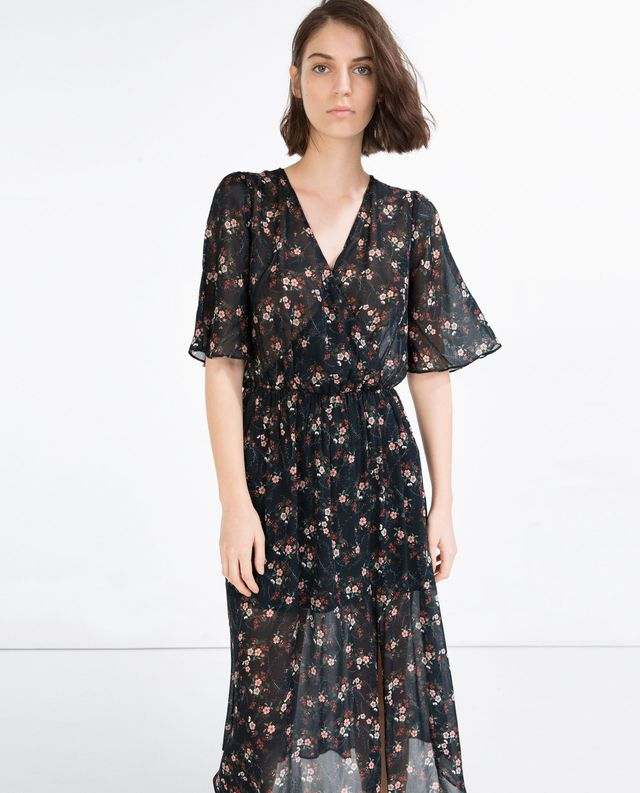 Zara Long Crossover Dress