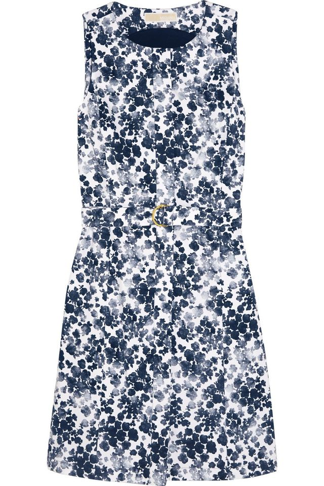 Michael Michael Kors Floral-Print Cotton Mini Dress