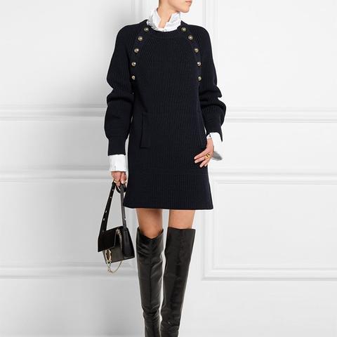 Oversized Wool Sweater Dress