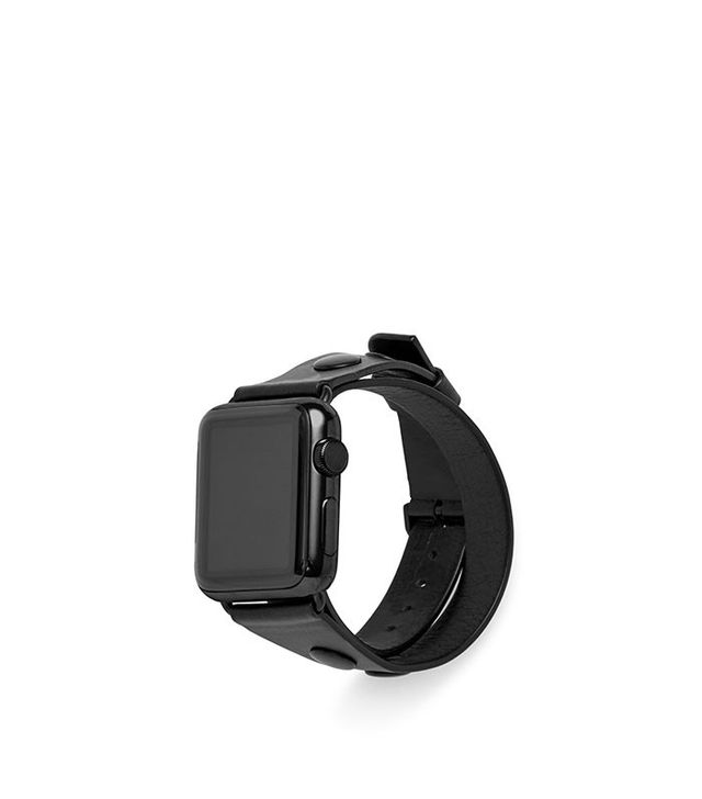 Rebecca Minkoff Double Wrap Leather Apple Watch Band