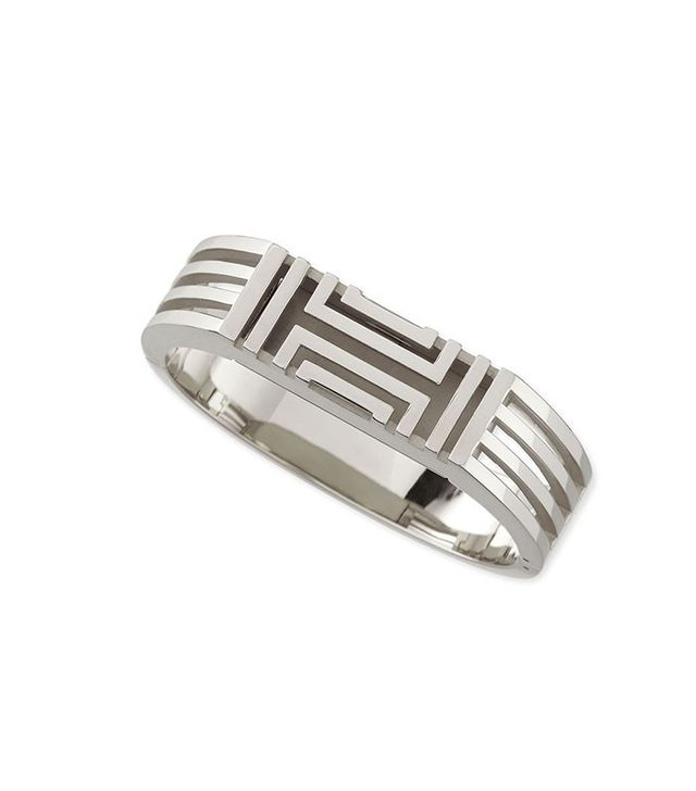 Tory Burch Rhodium-Plated Fitbit-Case Bracelet