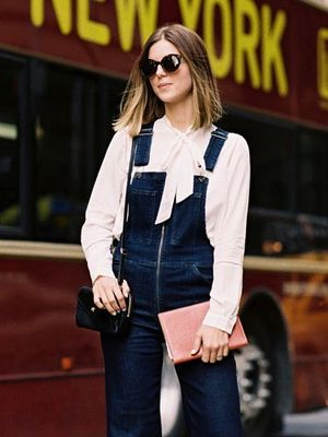 How to Wear Flared Denim Overalls for Spring