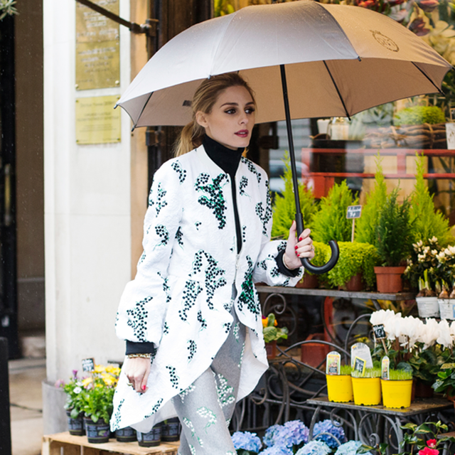 Olivia Palermo Matched Her Coat to Her Pants to Her Sneakers
