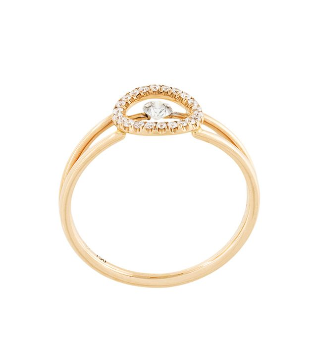 Sarlane Pave and Central Diamond Ring