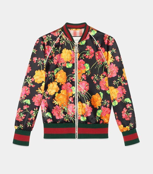 Gucci Acid Blooms Print Bomber