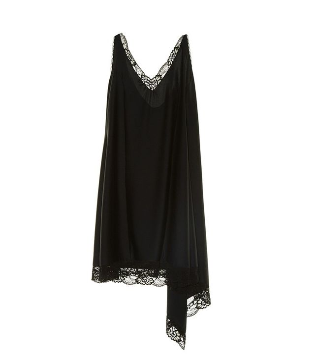 Vetements Lace-Trimmed Drape Panel Dress