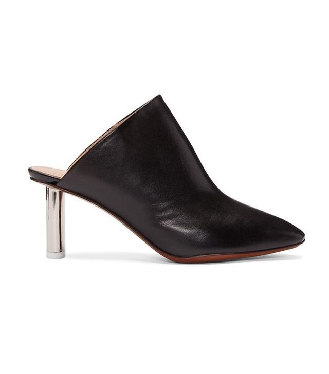 Vetements Black & Silver Lighter Heel Mules