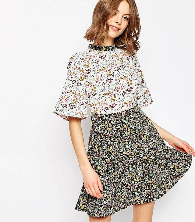 ASOS Ditsy Floral Printed Skater Dress