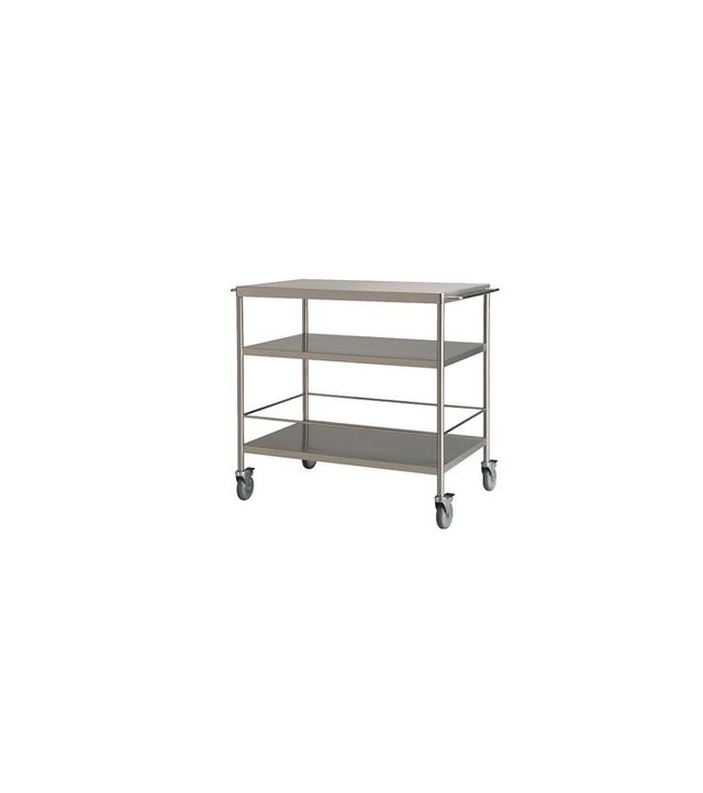 IKEA Flytta Stainless Steel Kitchen Cart