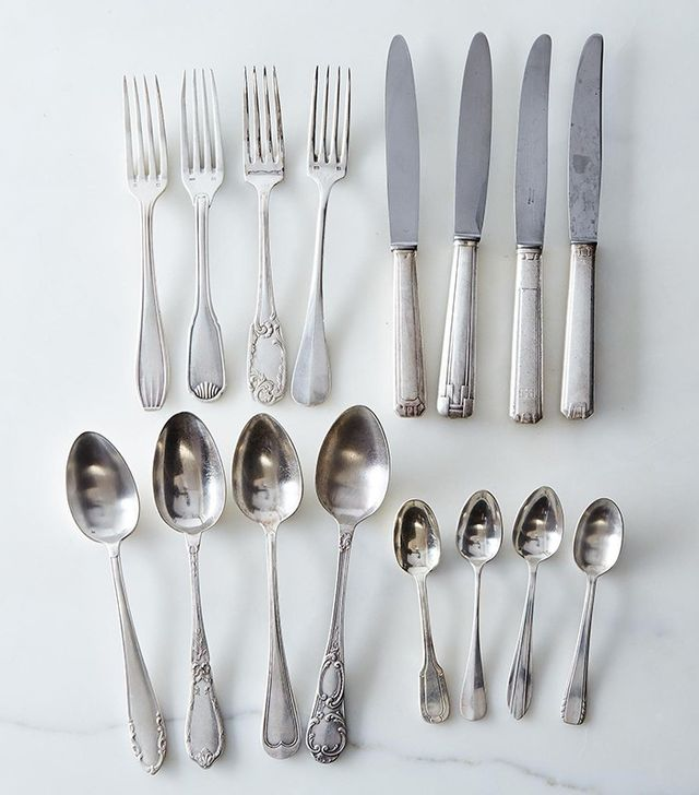 Food52 Set of 4 Vintage Silver-Plated French Flatware