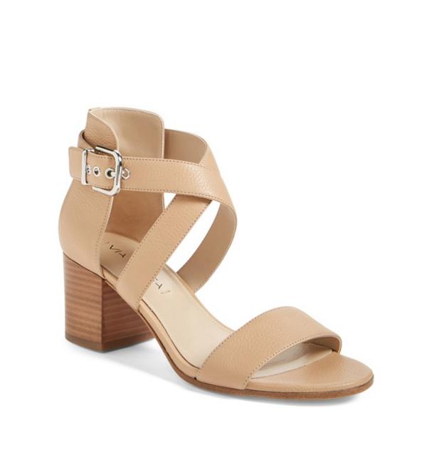 Via Spiga Jobina Crisscross Strap Block Heel Sandals