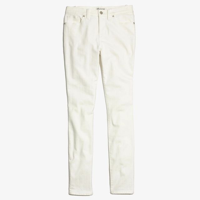 "Madewell 9"" High Riser Skinny Skinny Jeans in Pure White"