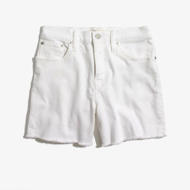 Madewell High-Rise Denim Shorts in Pure White