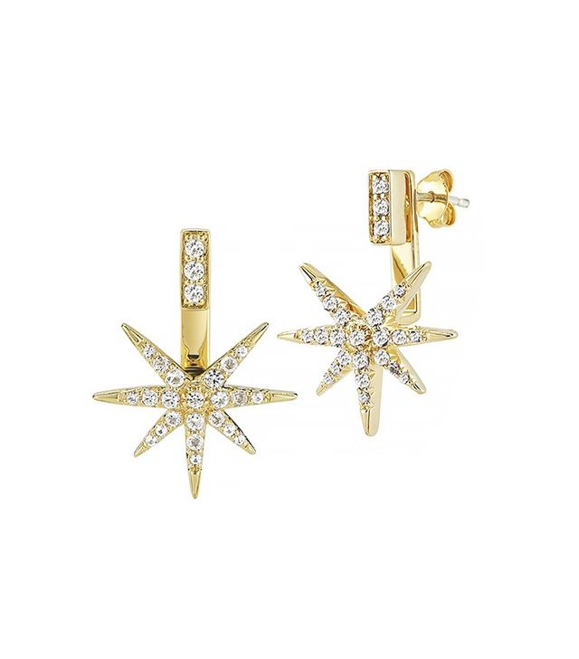 Elizabeth and James Astral Earrings With Star Jacket