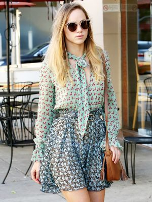 See the Sneakers Suki Waterhouse Wore With a Designer Dress