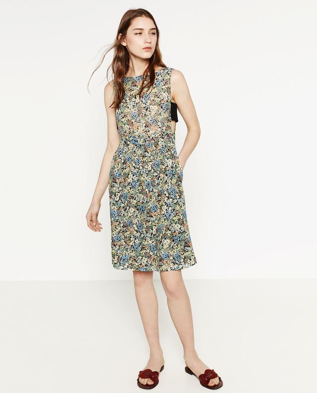 Zara Printed Guipure Lace Dress