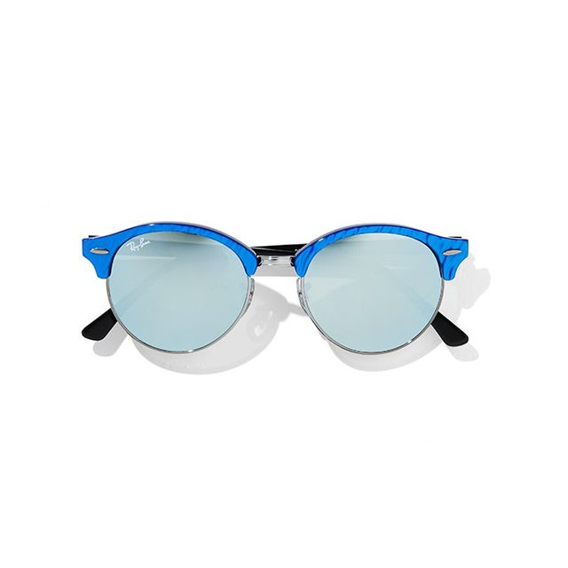 Ray-Ban Round Mirrored Clubmaster Sunglasses