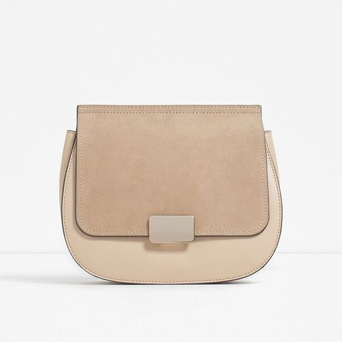 Contrast Material Cross-Body Bag