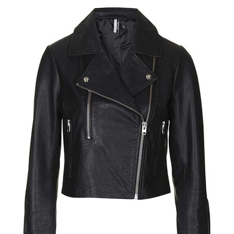Boxy Leather Biker Jacket