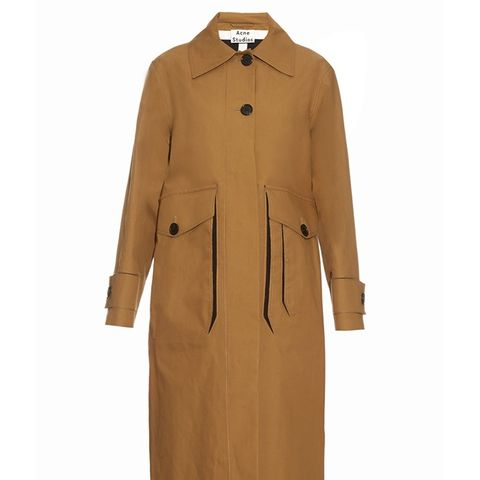 Vallina Cotton-Gabardine Trench Coat