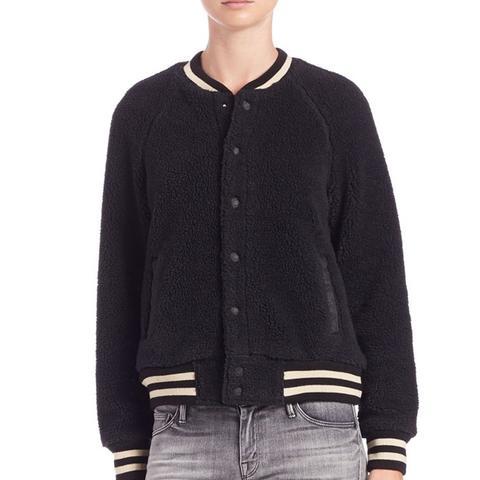 Snap-Front Varsity Jacket