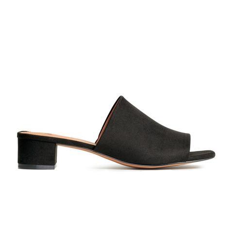 Mules With Block Heel