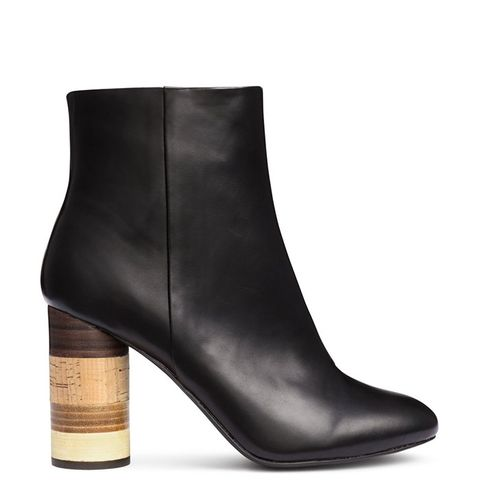 Ankle Boots With Wooden Heels