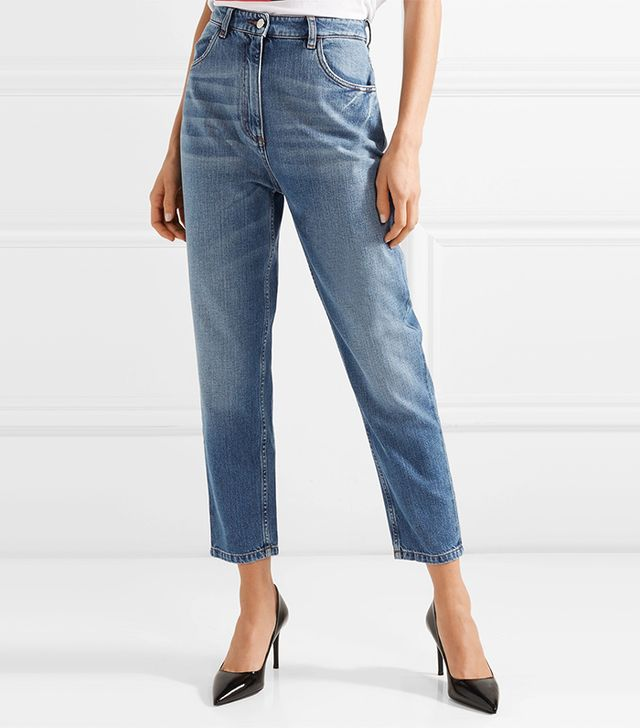 Cropped High-Rise Jeans
