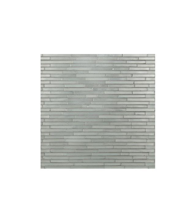 Artistic Tile Big Band Silver Ragtime Lines Satin Mosaic Tile