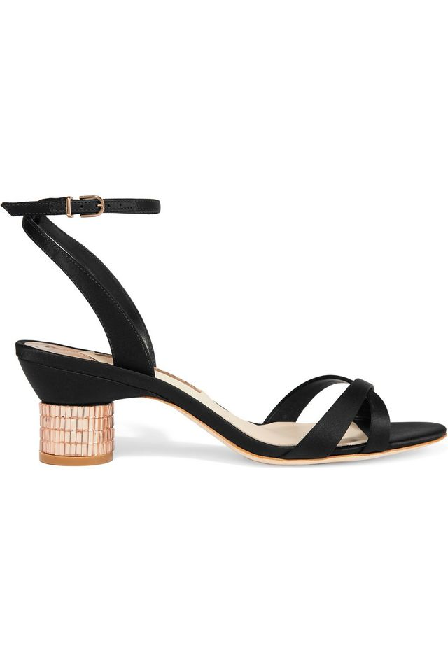 Sophia Webster Belle Crystal Embellished Satin Sandals