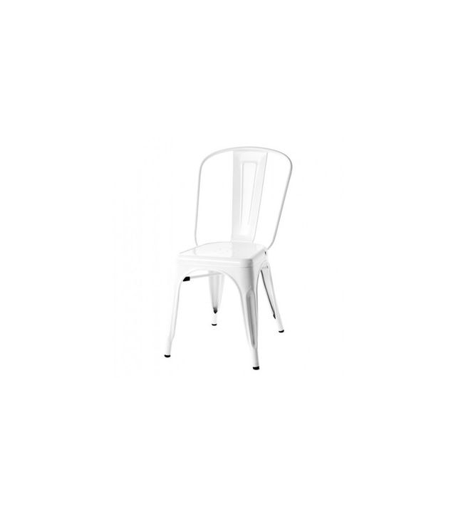 Tolix Style Metal Industrial Loft Designer White Cafe Chair