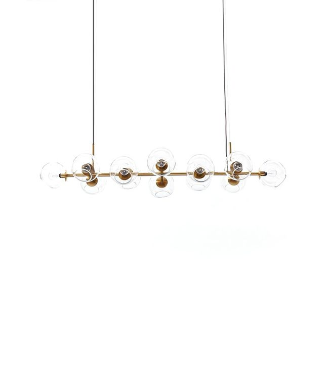 West Elm Staggered Glass Chandelier