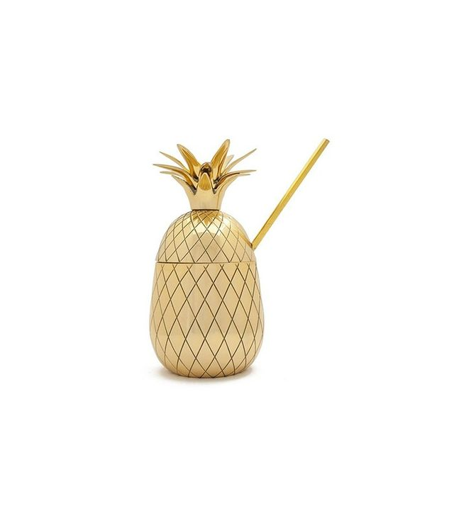Large Gold Pineapple Cocktail Tumbler