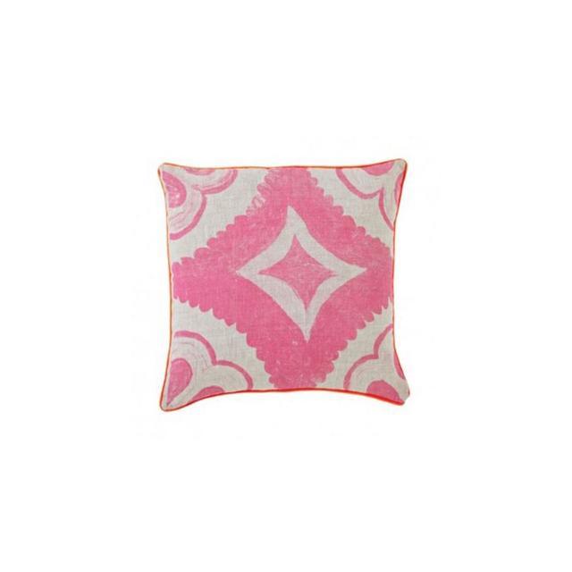 Bonnie & Neil Dahlia Tile Fluoro Pink 40cm