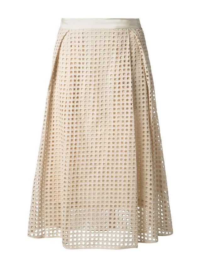 By Malene Birger Lattice Perforated Skirt
