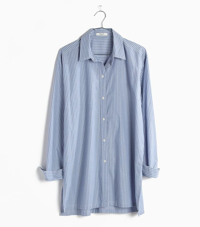 Madewell Streetview Tunic Shirt in Stripe