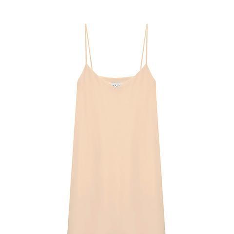Deep-V Silk Slip Dress