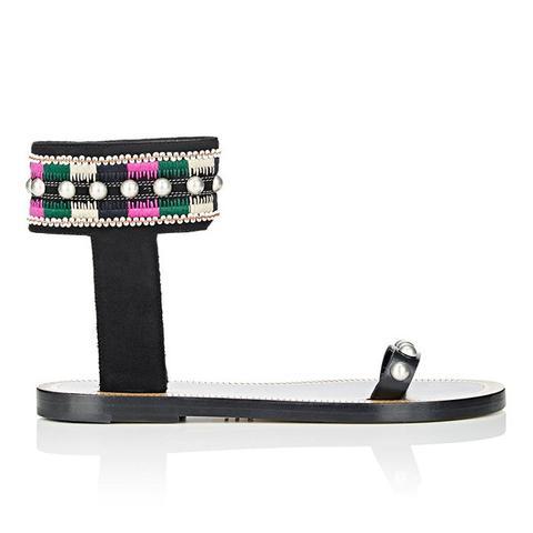 Embellished Joya Ankle-Cuff Sandals