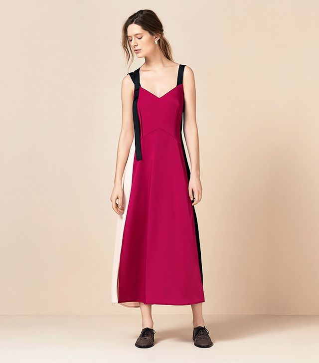 Finery Hilgrove Contrast Panel Slip Dress