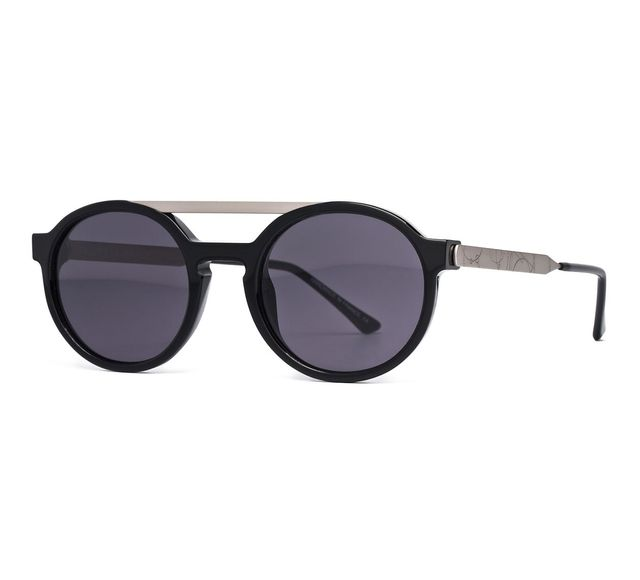 Dr. Woo x Thierry Lasry Black & Silver Sunglasses