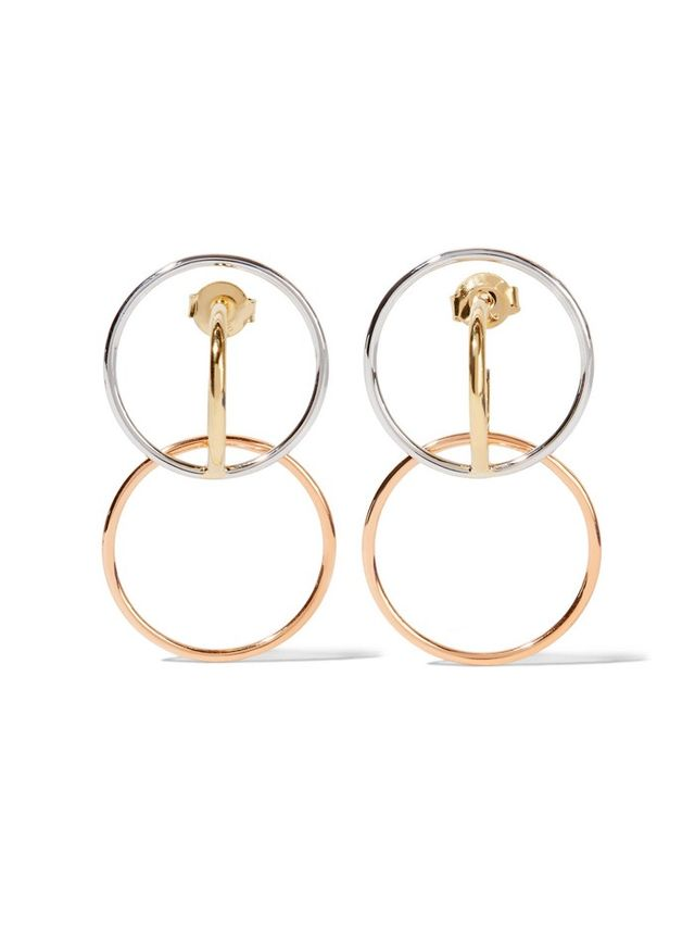 Charlotte Chesnais Gold-Plated and Silver Hoop Earrings