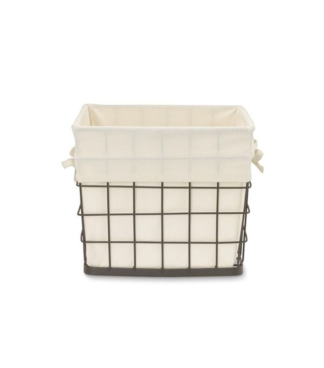 Williams-Sonoma Fabric Lined Square Wire Basket