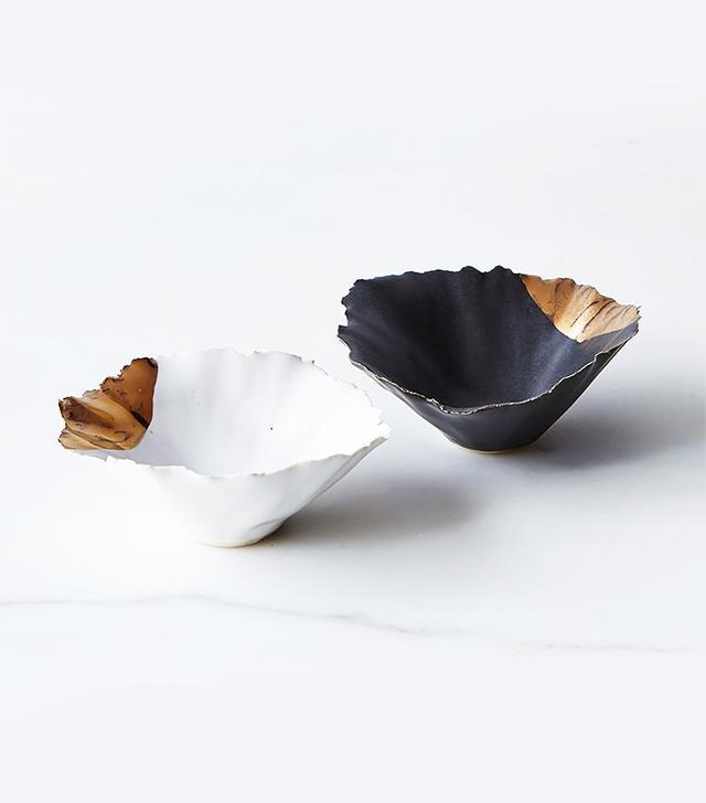 Fisheye Brooklyn Gold-Dipped Seashell Pinch Bowls