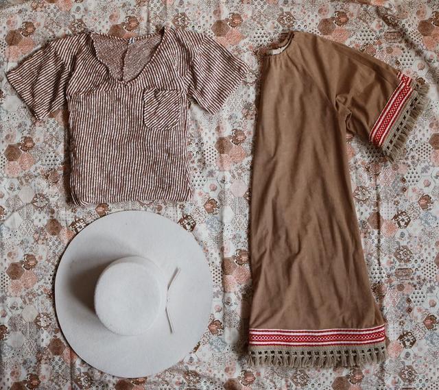 Vintage Magic Mountain Faux Suede Dress