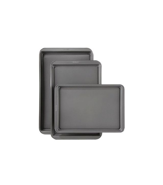 Room Essentials 3 Piece Cookie Sheet Set in Silver