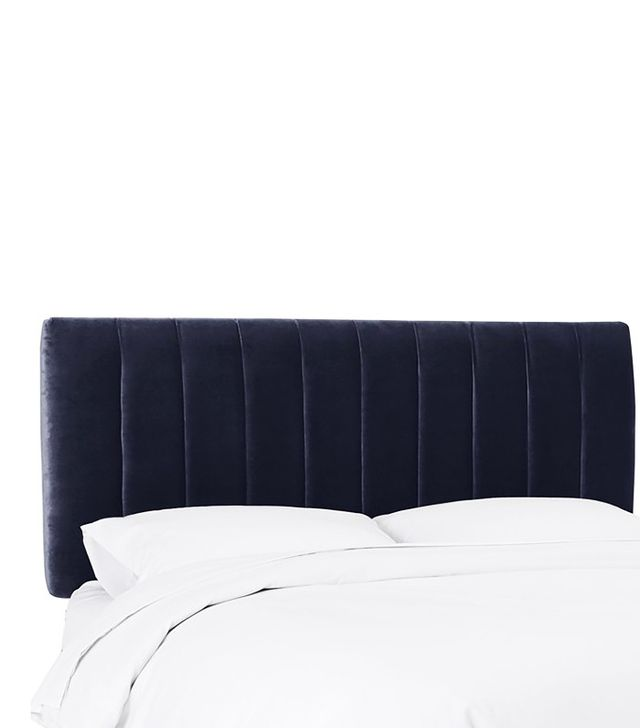 One Kings Lane Navy Velvet Headboard