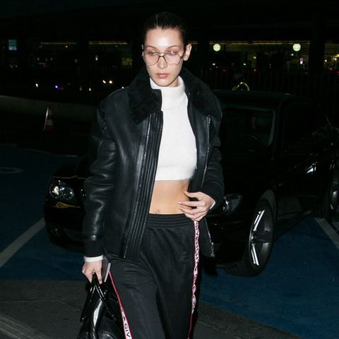 Bella Hadid style: airport Givenchy look