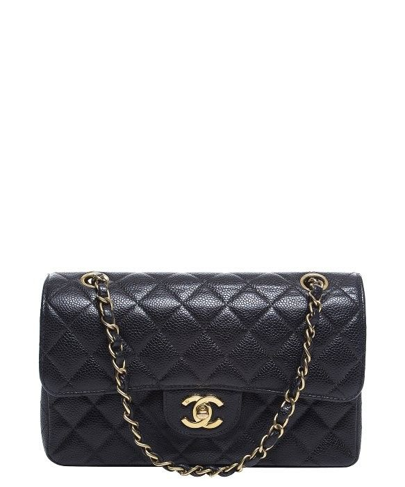 Chanel Black Caviar Small Double Flap Bag
