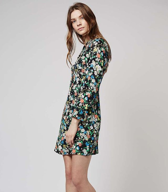 Topshop Retro Floral Dress